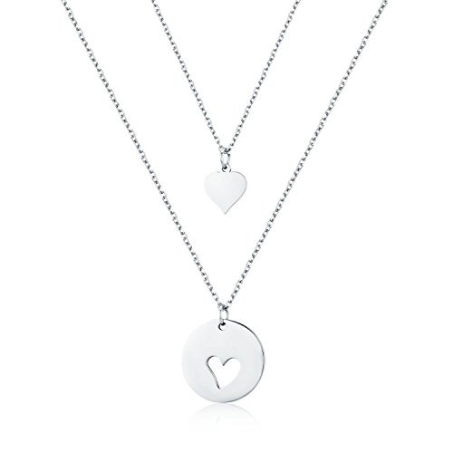 Udobuy Heart Charm Necklace Mom Daughter Jewelry $5.98 (33% Off)