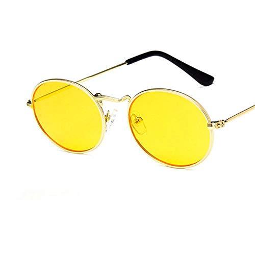 Gafas De Sol PolarizadasGafas De Sol Steampunk con Montura Metálica Pequeña Ovalada Vintage para Hombres Y Mujeres Gafas De Sol Gafas para Mujer