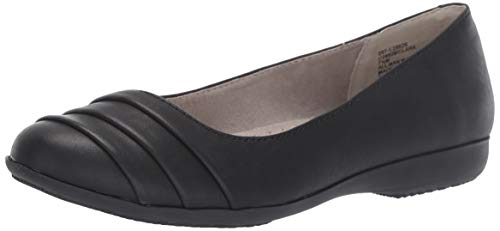 CLIFFS BY WHITE MOUNTAIN Clara Women's Ballet Flat, Black/Burnished/Smooth, 10 M