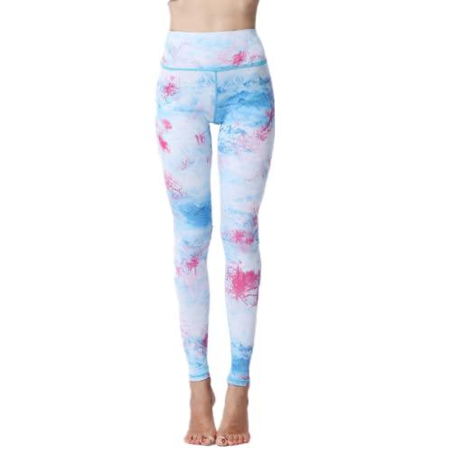 EMPERSTAR Leggings De Yoga para Mujer Pantalones De Yoga De Control De Barriga De Cintura Alta XL