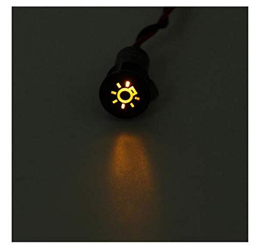 ChaRLes 12 8mm LED Panneau De Tableau De Bord Lampe Témoin Lumineux Avec Ligne Et Symbole Pour Le Bateau De Voiture - #25