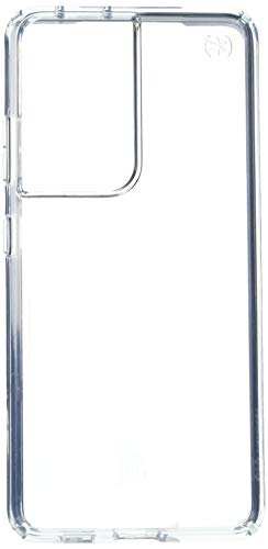 Speck Products Presidio Perfect Clear Samsung Galaxy S21 Ultra 5G Case, Clear/Clear