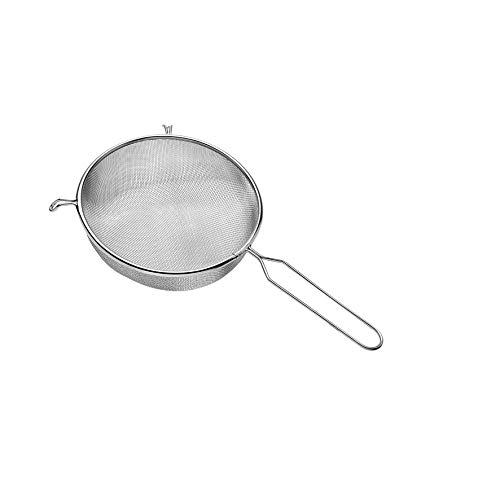 Peneira Em Aço Inox, 16 Cm, Prata, Mimo Style