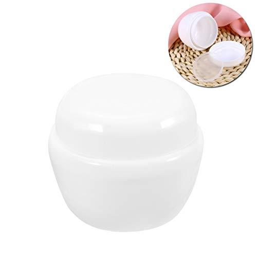 Conteneur de voyage transparent pour la crème faciale (blanc), bouteille de voyage étanche aux champignons, 50 g