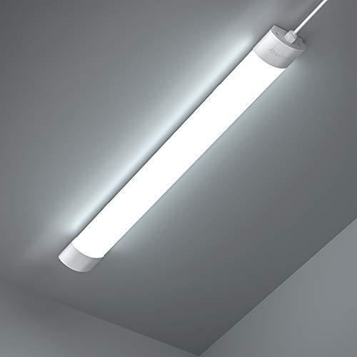 Anten Feuchtraumleuchte LED | 36W 120CM Deckenleuchte Röhre | 4200LM Kaltweiß 6000K Kellerlampe | IP65 Wasserdicht Garagelampe für Keller, Garage, Werkstatt usw.