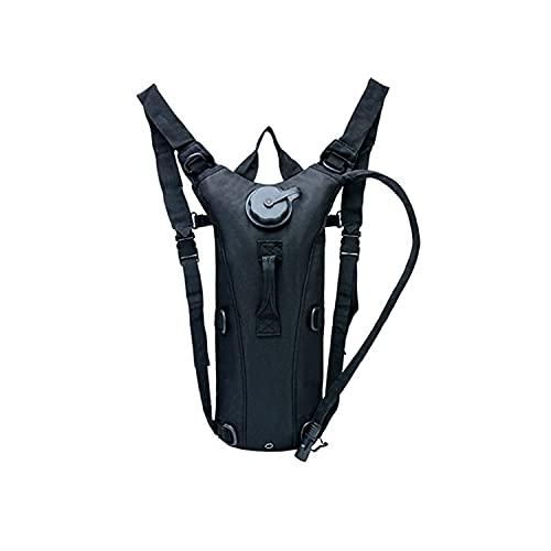 Guoyajf Zaino Tactical Hydration Pack con 3L TPU Water Bladder Zaino Militare per Escursionismo, Ciclismo, Corsa, Camminata E Arrampicata All'aperto,Nero