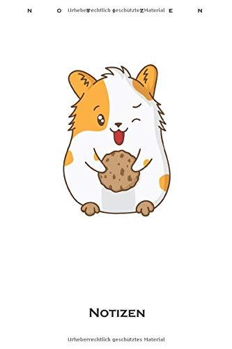 Cookies Hamster Notizbuch: Liniertes Notizbuch für Naschkatzen und Keksliebhaber