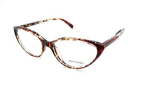 Alain Mikli Brillen Gafas de Vista 0A03081 HAVANA BROWN 55/16/140 Damen