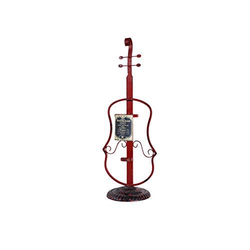 KUMOPYU Musikinstrument Weinregal Kreative Heimat Metall Schmiedeeisen Weinregal-Cello Weinschrank flaschenregal Flaschenständer Weinflaschenhalter Weinregal Stapelbar Weinregal Flaschenregal Für
