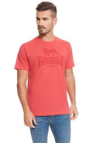 Lonsdale London T-shirt lichtrood gemêleerd maat S, M, L, XL, XXL.