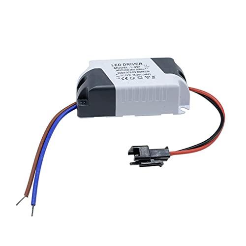 ZRYYD 1x AC 85V-265V bis DC 2V-12V LED-elektronischer Transformator-Stromversorgungstreiber 3x1w