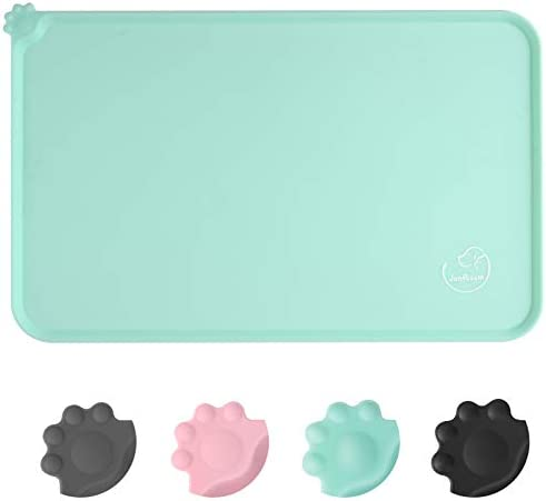 Juqiboom Silicone Waterproof Dog Cat Pet Feeding Mats Non Slip Easy Clean Pet Dog Cat Bowl Mats product image