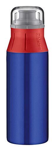 alfi elementBottle 600ml, Edelstahlflasche Real Pure blau/rot, dicht, spülmaschinenfest, BPA-Frei, Wasserflasche 5357.134.060, Trinkflasche Edelstahl für Kinder, Schule, Sport, Flasche für Schorle