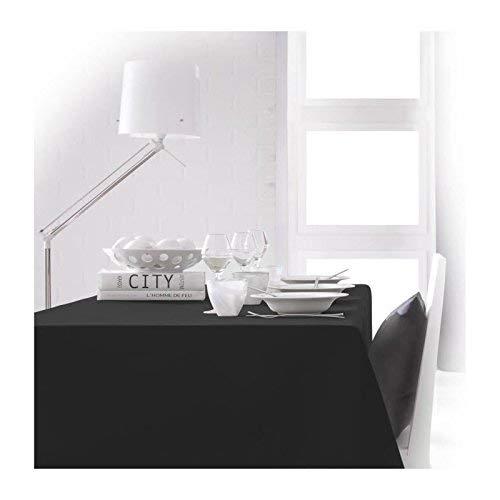 Today 256412 Nappe Polyester Réglisse/Noir 150 x 250 cm