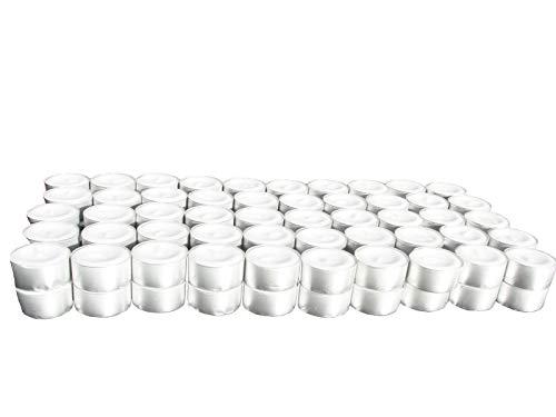 H-LINE Teelichter 8 Stunden Brenndauer 200er 400er 600er 800er 1000er Pack Gastronomie Kerzen Teelicht (200)