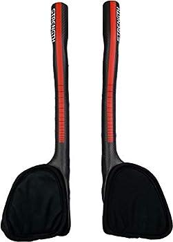 Strength Areo Bars Bike Handlebar TT Bullhorn Handlebars Carbon Aero Bars Clamping Dia 31.8mm Red 3K Matt Length 340mm Triathlon for Mountain Road Bike