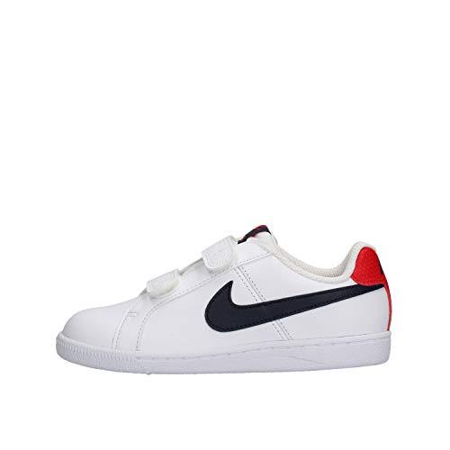 Nike Court Royale (PSV), Zapatillas Niños, Blanco (White/Obsidian/University Red 107), 34 EU