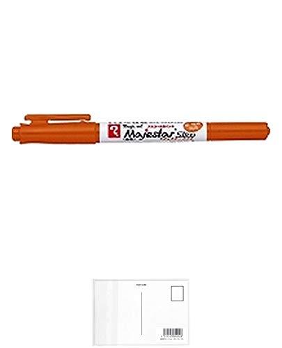 寺西化学 マジックマジェスタースリム 黄土 MMJ70-T10 【× 7 本 】 + 画材屋ドットコム ポストカードA
