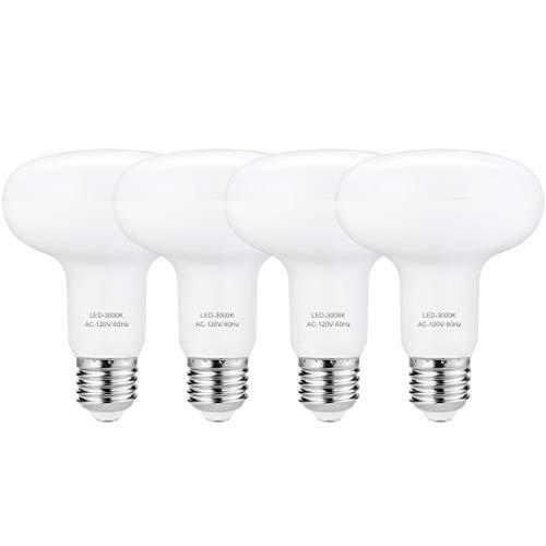 BR30 LED 3000K, 100 Watt Flood Light Bulbs Equivalent, 12 Watt E26 Dimmable Light, 1200 Lumens Indoor Reflector Light, Soft White, Pack of 4