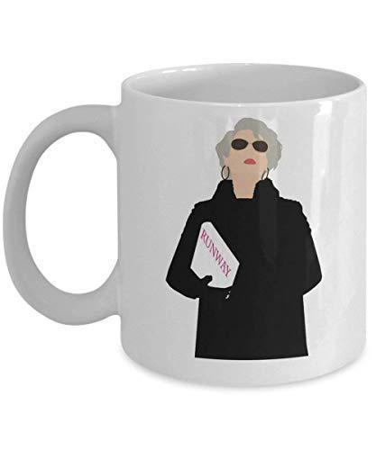 Miranda Priestly koffie mok Cup (wit) 11oz duivel draagt Prada Diva Mode geschenken accessoires Merchandise Shirt Sticker Decal Art Decor