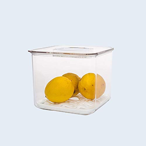 HYRGLIZI Refrigerator Food Storage Containers with Lids Kitchen Storage Seal Tank Plastic Separate Vegetable Fruit Fresh Box Big ml (Size : Single layer-medium)