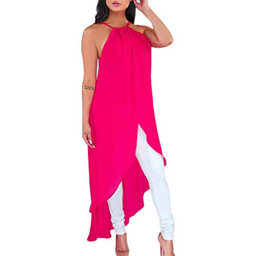 Shinehua elegante zomerjurk voor dames, chiffonjurk, sexy schoudervrij, zonder mouwen, effen, abibaljurken, mooie avondjurken, baljurken, casual, tuniek, blousejurk