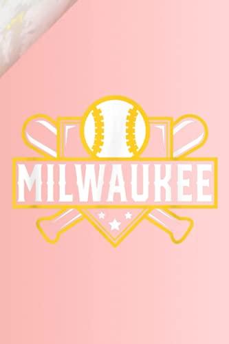 Prayer List Notebook: Milwaukee Baseball Home Plate Crossed Bats