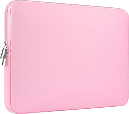 CCPK 15' Laptop Sleeve Compatible for New Apple MacBook Pro 15 Inch with Touch Id A1990 A1707 ASUS VivoBook ZenBook Dell Xps 15 In Microsoft Surface Laptop 3 Carrying Case Bag Cover Neoprene, Pink