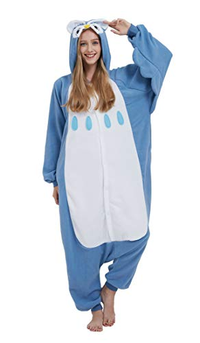 Pijama Onesie Adultos Mujer Cosplay Animal Disfraces Sleepwear Cielo Azul M