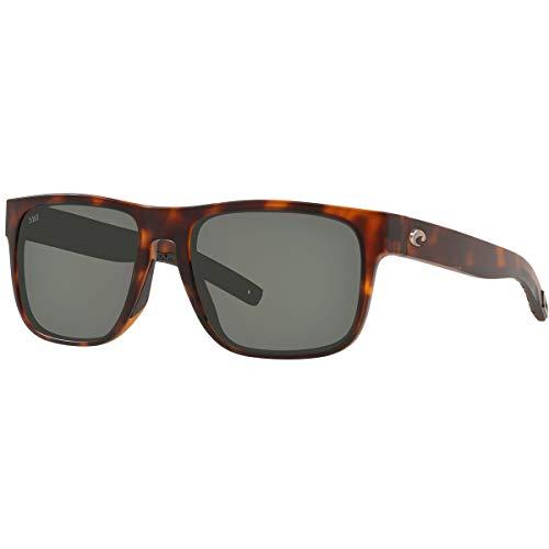 Costa Del Mar Men s Spearo Square Sunglasses, Matte Tortoise Grey Polarized 580G, 56 mm