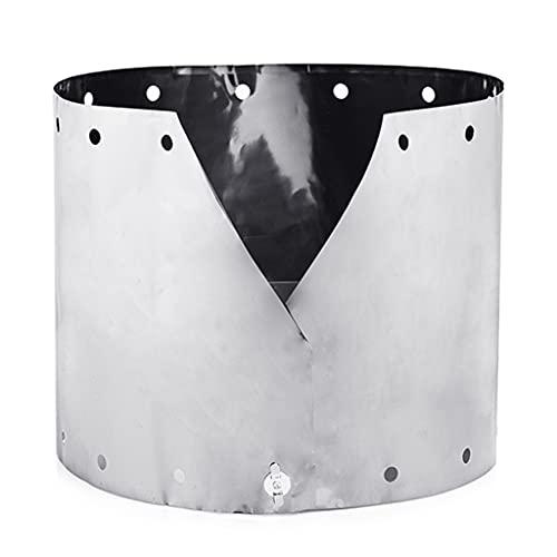 LAOLEE Windständer aus Titan, für Alkohol, Windschutz, Camping, ultradünn, Titan, rund, verstellbar, tragbar, für den Außenbereich