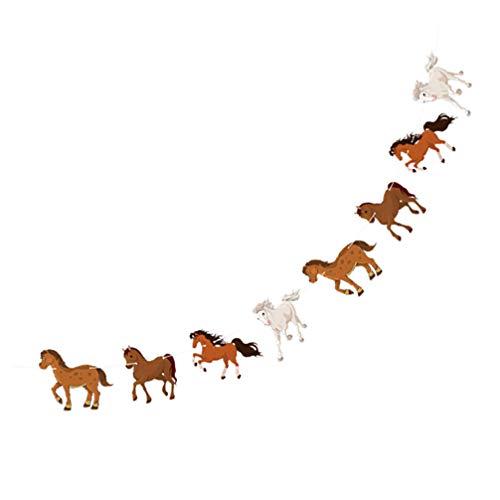 VALICLUD Guirnalda de caballos, banderines, estrellas, filantes, carreras, caballos para la decoración de fiestas de boda de cumpleaños