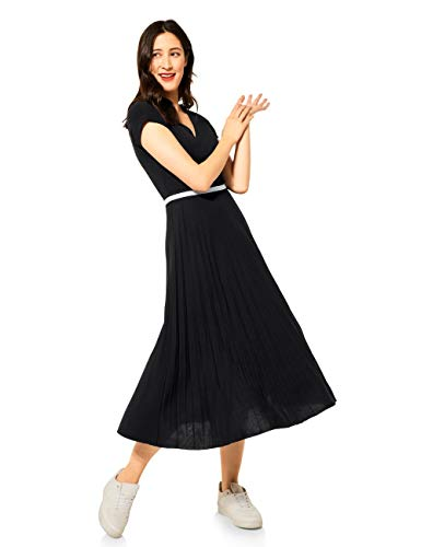 Street One Damen 142886 Kleid, Black, 44
