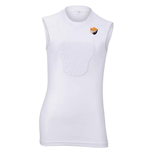 ProBay Chest Protector Shirt for Kids- Heart Guard Sternum Protection Compression Shirts for Baseball Basketball Softball Soccer (Small)