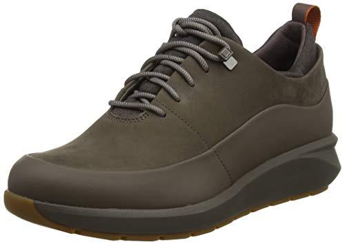Clarks Un Venturelo, Zapatos de Cordones Derby para Mujer, Gris (Taupe Combi Taupe Combi), 39 EU