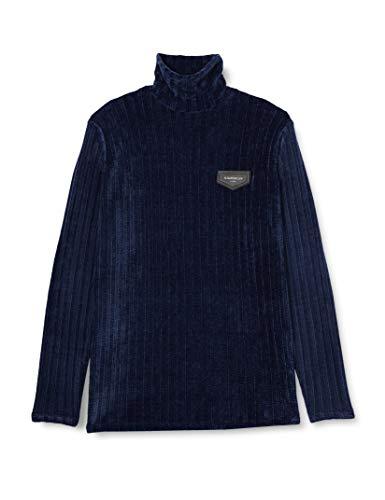 Gianni Kavanagh Herren Navy Blue Oxford Turtleneck Sweat Polo-Pullover , , L