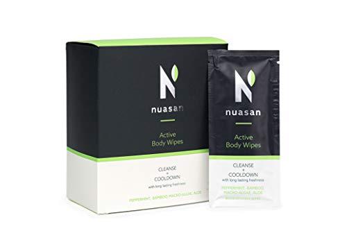 In Irland hergestellte, natuerliche und biologisch abbaubare Duschtuecher - Erfrischen Sie sich unterwegs mit Nuasan Active Body Wipes
