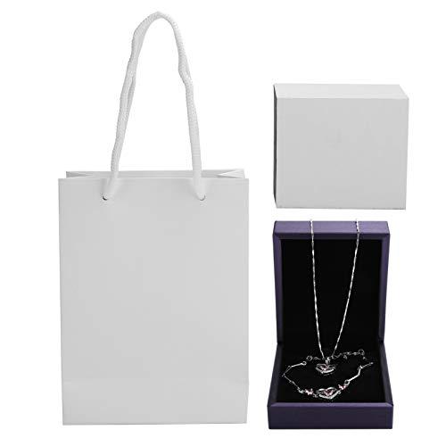 Pulsera, collar, conjunto, no tóxico, dama, pulsera, collar, joyería, regalos para mujeres, regalo no alergénico para damas(Pink)