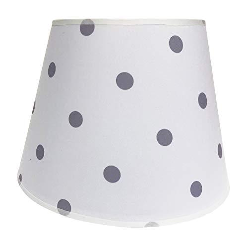 Lampenschirm/Tischleuchte/Stehlampe/Weiß/graue Punkte/Stoff / E27 / Groß