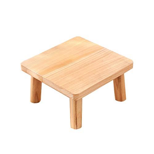 Mesitas de Salón Para el Café Tabla simple de la ventana de la bahía Mesa de centro mini minimalista de madera sólida minimalista moderna de la tabla lateral Mesa Final ( Color : Brown , Size : 40cm )