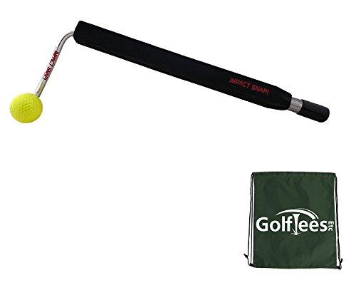 Impact Snap Golf Impact Snap Swing Trainer with Golf Tees Etc Drawstring Carry/Shoe/Kit Bag (Right)