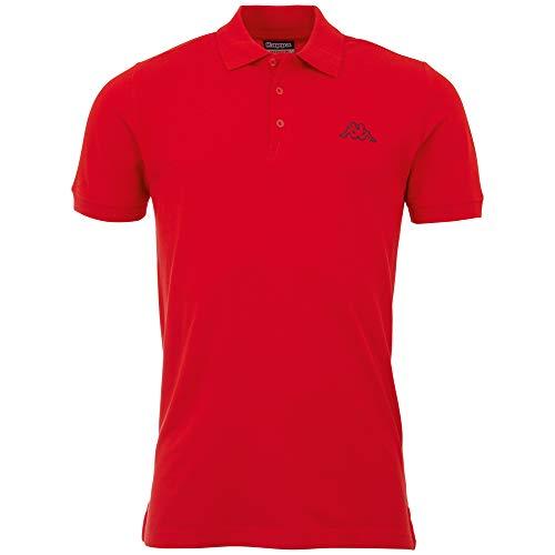 Kappa Camisa Pleot, Polo, para Hombre, Hombre, Polo, 303173, 540 Scarlet, XXXX-Large