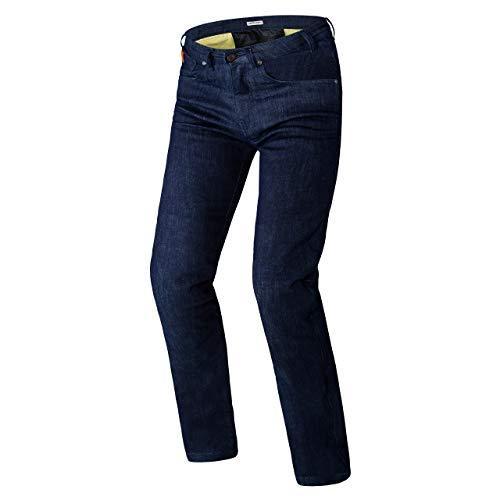 REBELHORN Classic II Jeans Slim Protectores de Rodilla y Cadera con certificación CE de Nivel 2 para Motocicleta Paneles de Kevlar Dupont Elementos Reflectantes 4 Bolsillos Certificación CE