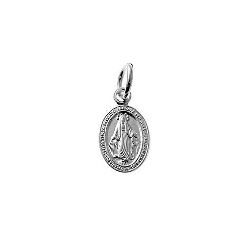 Medalla Plata Ley 925M. Virgen Milagrosa 12mm. Ovalada