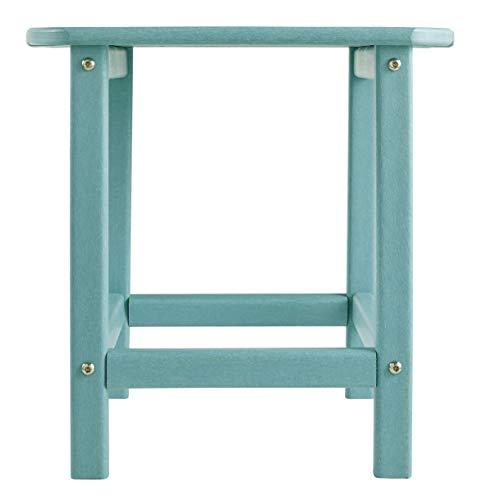 Signature Design by Ashley - Sundown Treasure Outdoor End Table - Hard Plastic - Slat Top - Turquoise