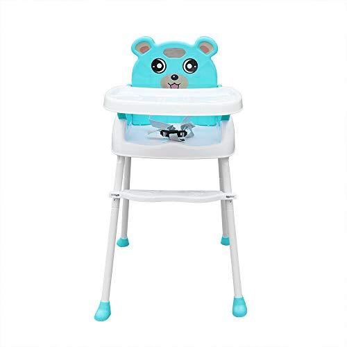4 en 1 Trona para Bebés Niños Portatil silla alta ajustable con bandeja para Comer Seguro,Combinación de Mesa y Asiento,verde