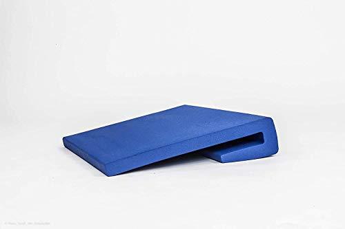 Seitenschutzpolster Bettgitterpolster Polster für Pflegebett Kinderbett Seniorenbett. Aus beschichtetem Schaumstoff, abwischbar, desinfizierbar, wasserabweisend, atmungsaktiv, L-Form 60cm, blau
