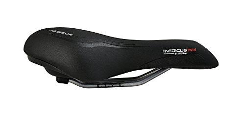 Büchel Wittkop Medicus Twin Fahrradsattel 1.0 (Trekking Herren), schwarz, 91201 - 2