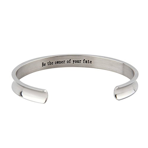 FOR TMT Armband Titan Stahl Lichtbogen Nut Schriftzug Inspirierend Armband Seien Sie Der Besitzer Ihres Schicksals Armband Geschenke
