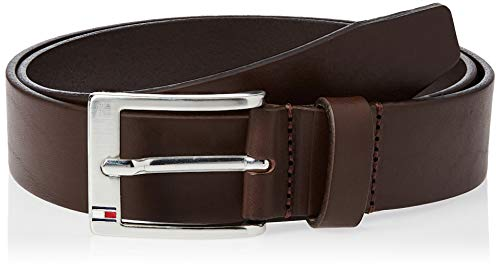 Tommy Hilfiger New ALY Belt Cintura, Marrone (Testa di Moro-EUR), 90 Uomo